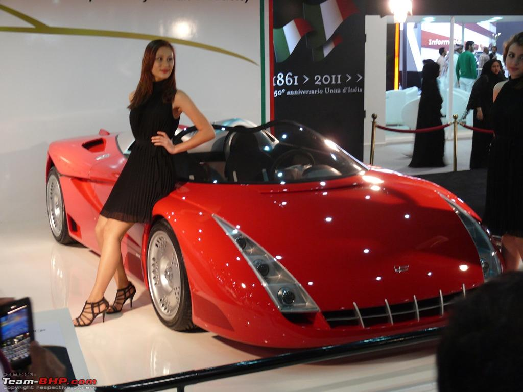 The Lady in Red in Qatar Motor