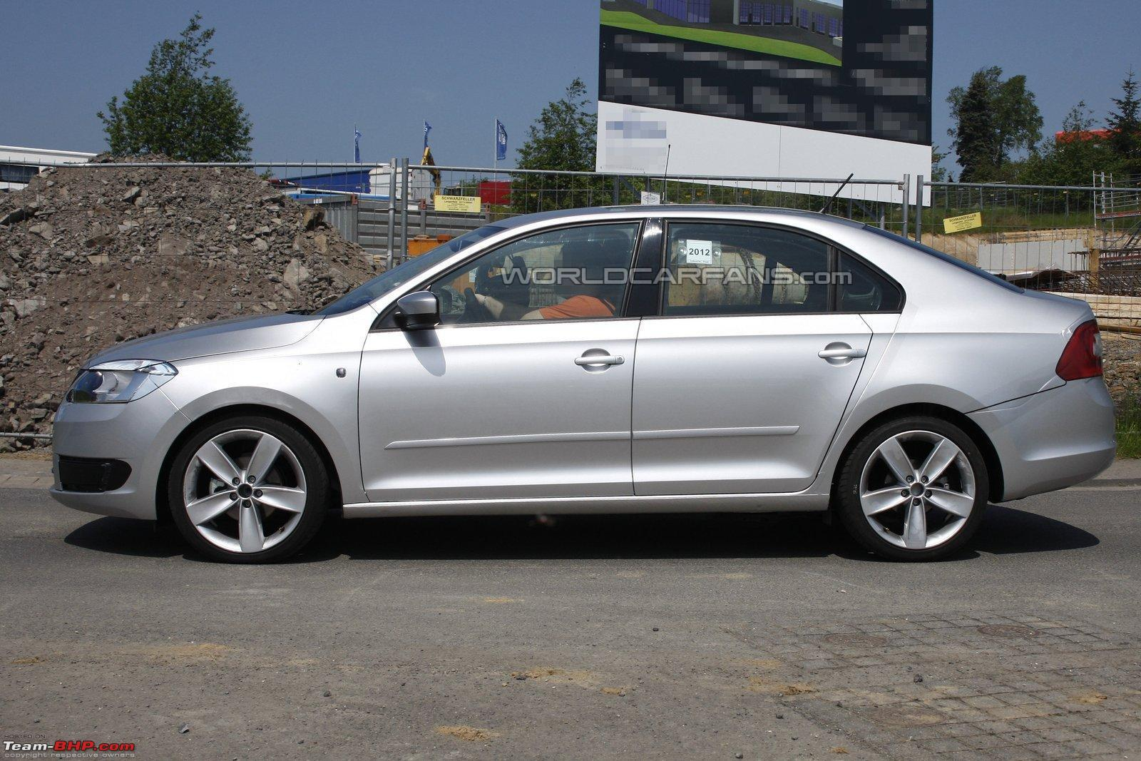 European skoda rapid spotted all new car based on mission for Garage skoda paray vieille poste