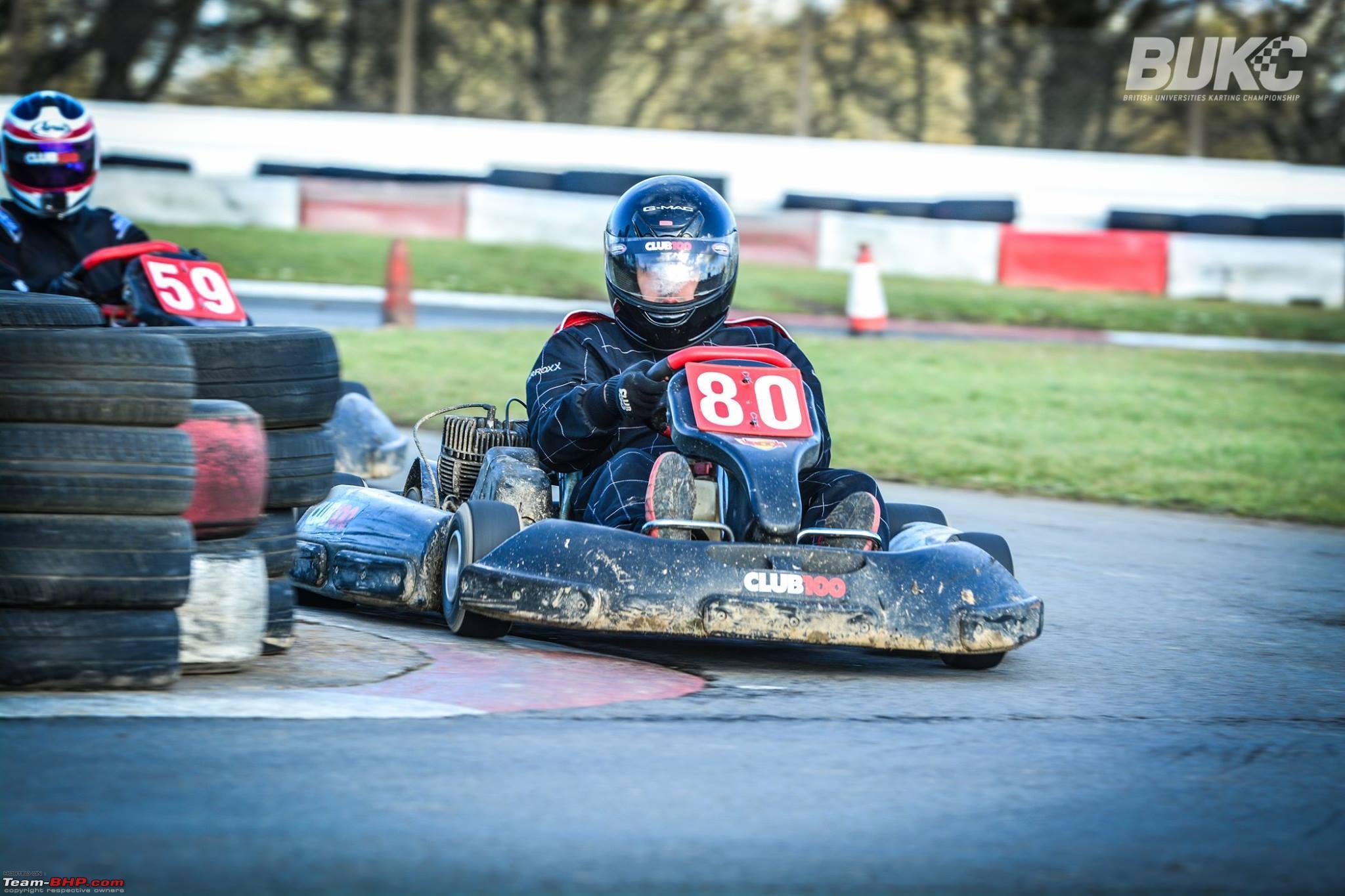 Racing in the British Universities Go-Karting Championship