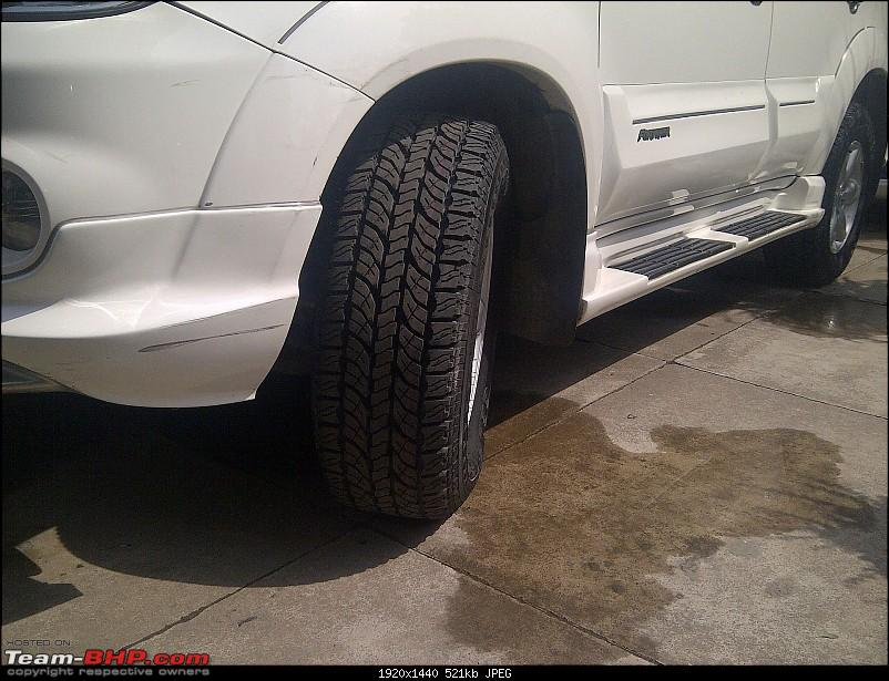 Obelix, the Invincible Toyota Fortuner! 2,00,000 km and going strong!-tyre-morning.jpg