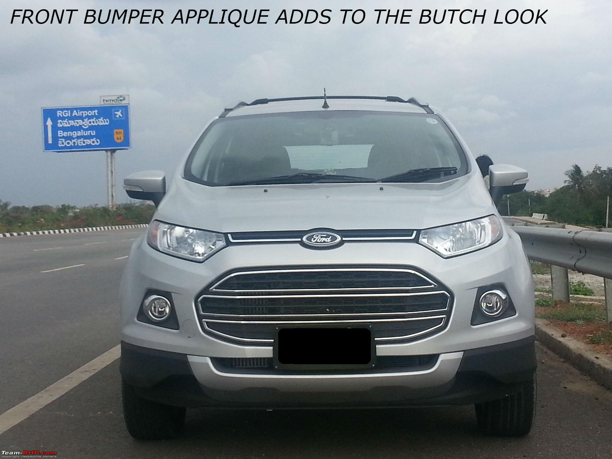 My Silver Ford Ecosport Titanium O Tdci First Delivered In India