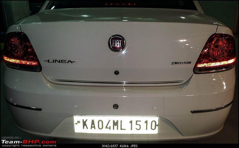 Petrol Hatch to Diesel Sedan - Fiat Linea - Now Wolfed-rear-chrome-strip.jpg