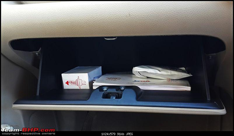 Tallboy welcomes longer companion: Maruti Ertiga VDi - 140,000 km up!-glovebox.jpg