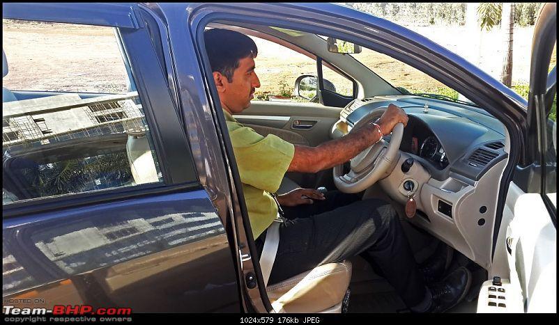 Tallboy welcomes longer companion: Maruti Ertiga VDi - 150,000 km up!-driving_position.jpg