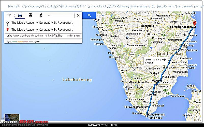 Mahindra XUV500 W8 FWD: My Pet Purple Cheetah-routemap.jpg