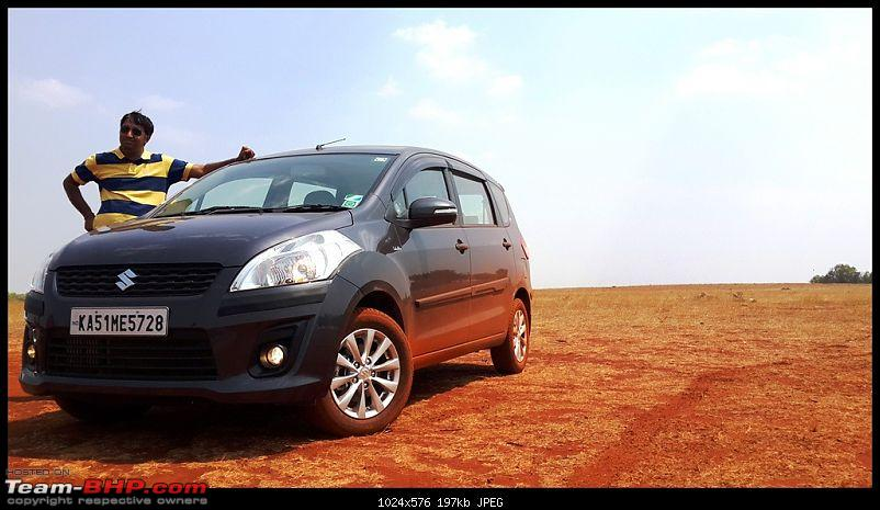 Tallboy welcomes longer companion: Maruti Ertiga VDi - 100,000 km now!-hesarghatta_01.jpg