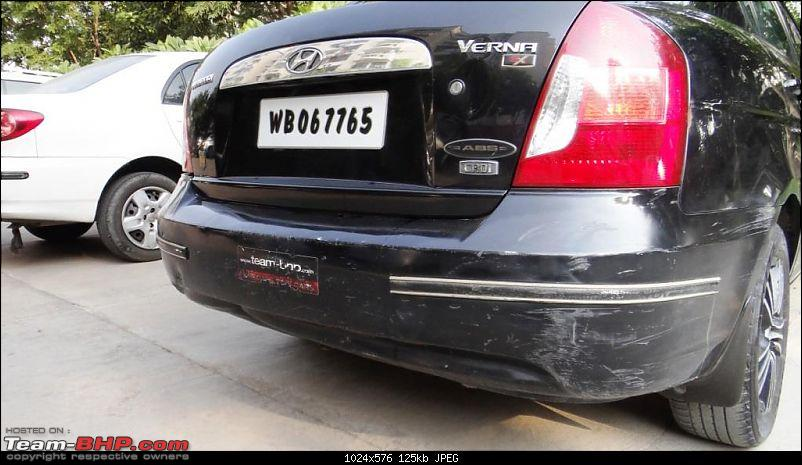 My Predator - Ebony Black Hyundai Verna CRDI SX ABS - 100,000 kms update on pg 15-bumper-1.jpg