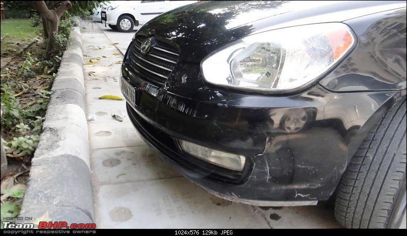 My Predator - Ebony Black Hyundai Verna CRDI SX ABS - 100,000 kms update on pg 15-bumper-3.jpg