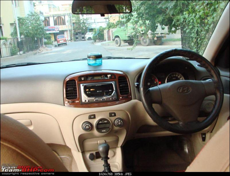 My Predator - Ebony Black Hyundai Verna CRDI SX ABS - 100,000 kms update on pg 15-console-6-years-ago.jpg