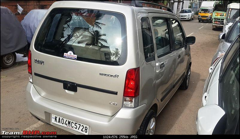 Maruti Wagon-R F10D: 223,000 kms & the first accident. Edit: Now fixed-rear-side.jpg