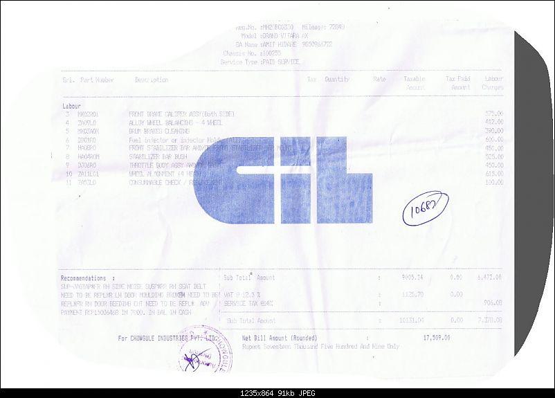 The First Grand Vitara on Team-BHP [113000 KMs & 9 Years]-gvbill2.jpg