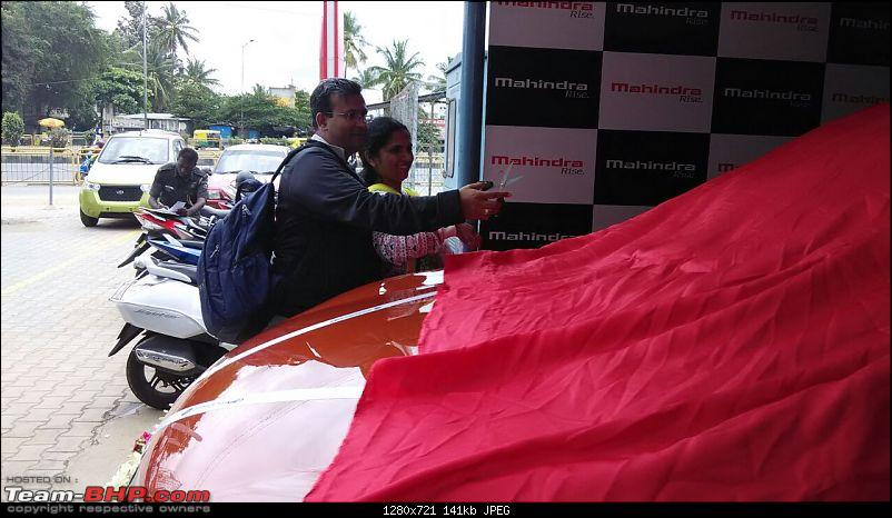 Ownership Tales - The Orange Cheetah! 2015 Mahindra XUV500 W10 FWD-ribboncutting.jpg
