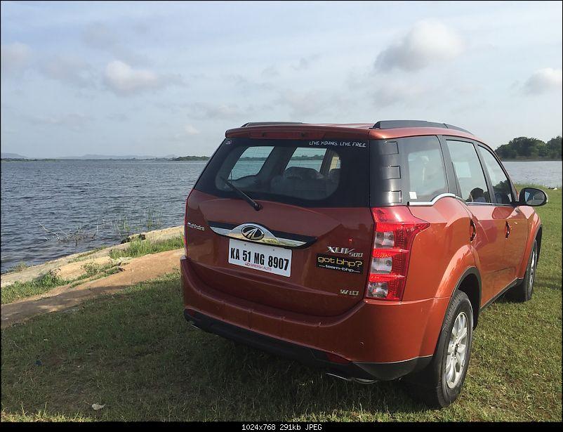 Ownership Tales - The Orange Cheetah! 2015 Mahindra XUV500 W10 FWD-parkedatlake2.jpg