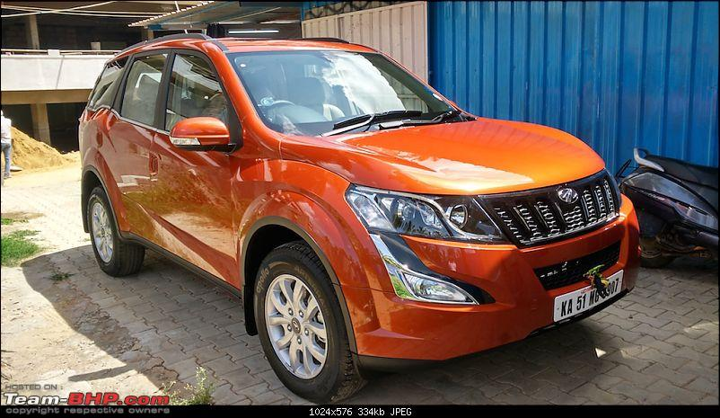 Ownership tales of the Orange Cheetah - 2015 Mahindra XUV5OO W10 FWD EDIT: 75,000 km up-front45left.jpg
