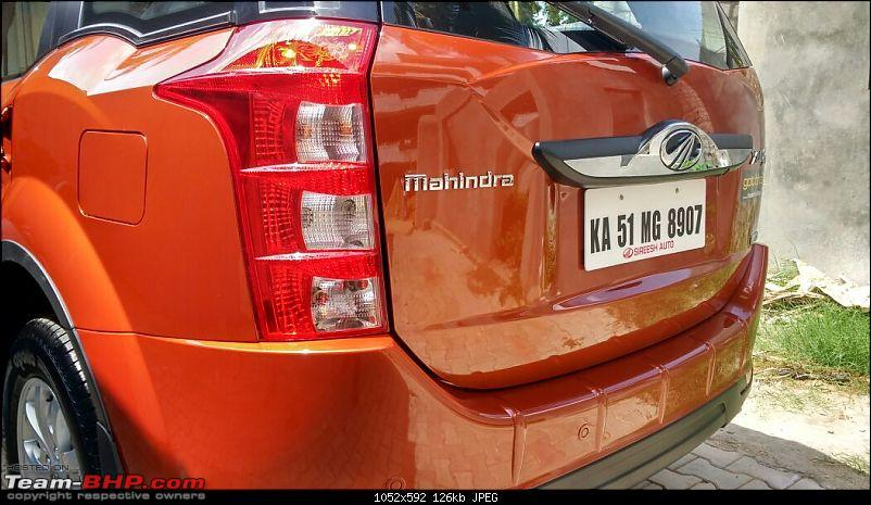 Ownership tales of the Orange Cheetah - 2015 Mahindra XUV5OO W10 FWD, 60000 km up-rear45leftclose.jpg