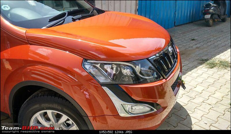 Ownership tales of Orange Cheetah, my 2015 Mahindra XUV5OO W10 FWD - 140,000 km and going strong!-sidefrontleft.jpg