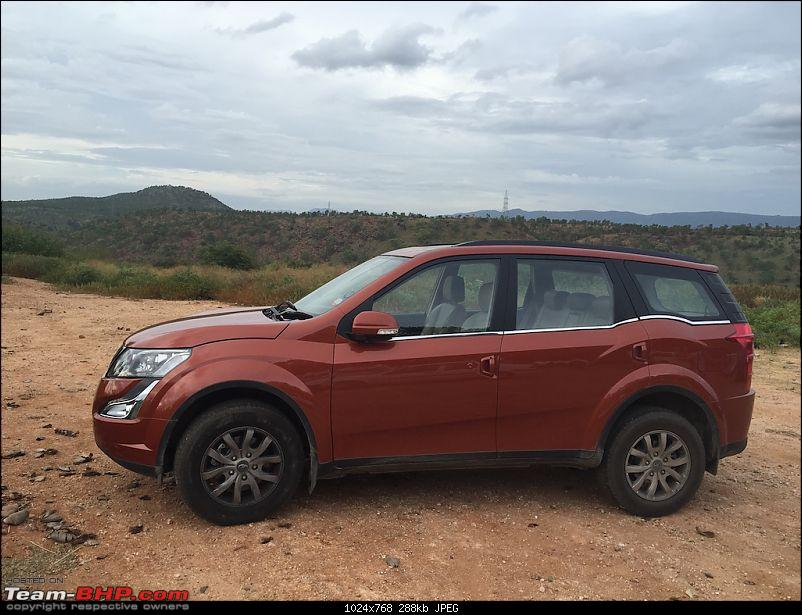 Ownership Tales - The Orange Cheetah! 2015 Mahindra XUV500 W10 FWD-car2.jpg