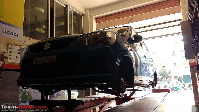 My Go-kart. Maruti Alto K10 VXi AMT, Cerulean Blue - 80,000 km update-balancing.jpg