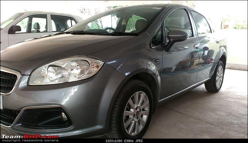 My 2014 Grey Fiat Linea 1.3L MJD-wax.jpg
