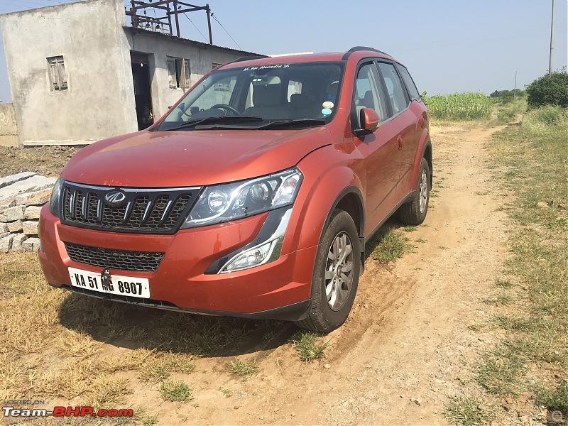 Ownership Tales Of Orange Cheetah - 2015 Mahindra XUV500 W10 FWD completes 50K+ Kms-farmparked.jpg