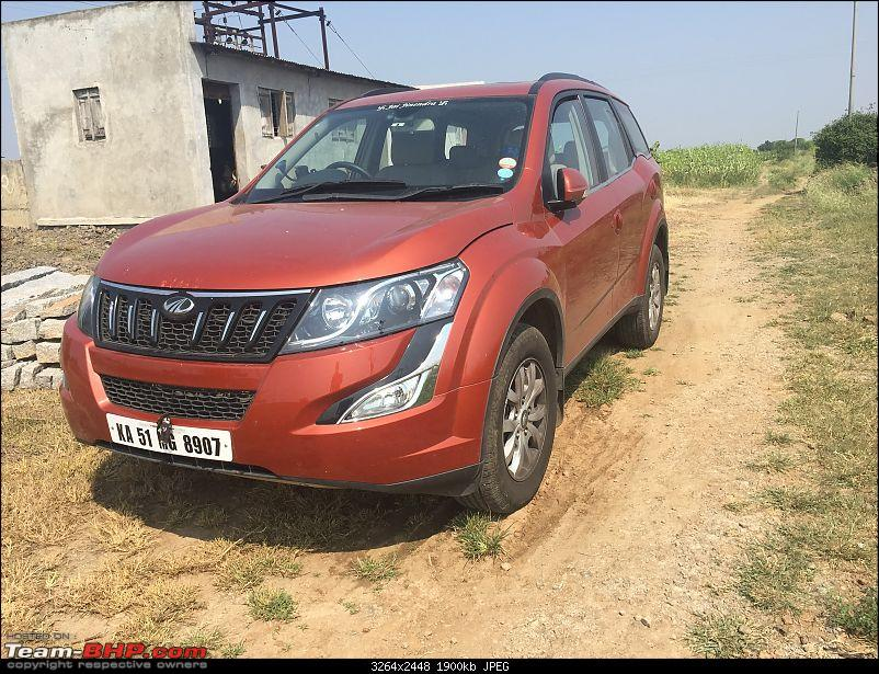 Ownership tales of Orange Cheetah, my 2015 Mahindra XUV5OO W10 FWD - 140,000 km and going strong!-farmparked.jpg