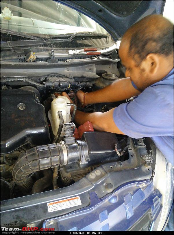 The story of a Blue Streak a.k.a Maruti Swift ZDi (Torque Blue). 1,20,000 km up & now sold-11.-fuel-filter-changing.jpg
