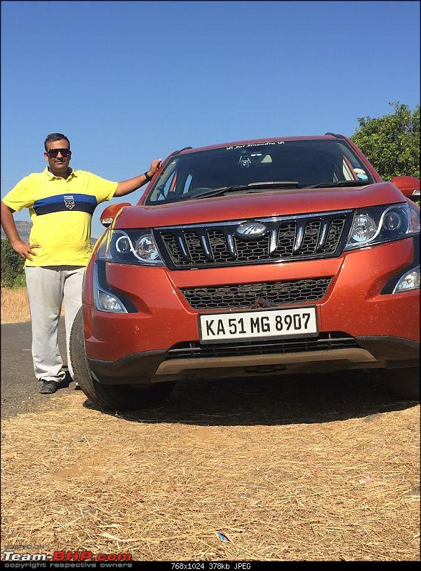Ownership Tales - The Orange Cheetah! 2015 Mahindra XUV500 W10 FWD-road.jpg