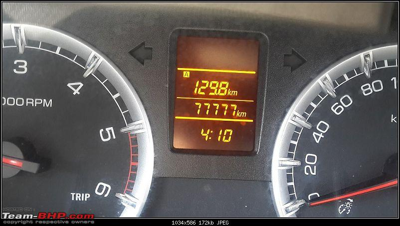 Tallboy welcomes longer companion: Maruti Ertiga VDi - 120,000 kms update-odo77777.jpg