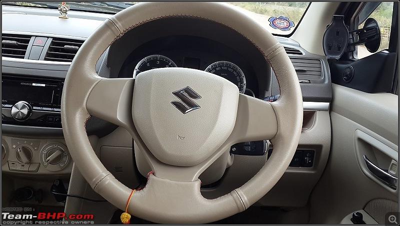 Tallboy welcomes longer companion: Maruti Ertiga VDi - 136,000 km update-steering.jpg