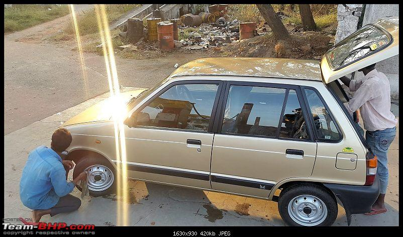The love of my life - A 2000 Maruti 800 DX 5-Speed. EDIT: Gets export model features on Pg 27-20151215_162458.jpg