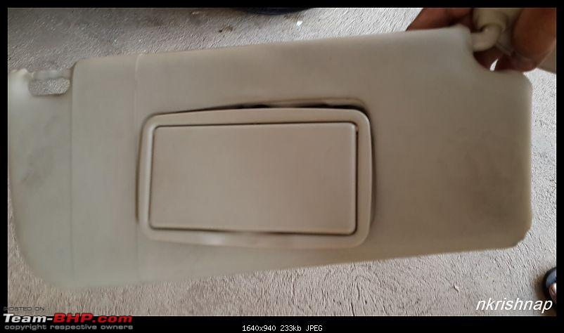Petrol Hatch to Diesel Sedan - Fiat Linea - Now Wolfed-broken-sun-visor.jpg
