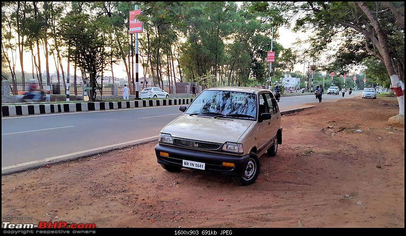 The love of my life - A 2000 Maruti 800 DX 5-Speed. EDIT: Gets export model features on Pg 27-20160628_183010.jpg