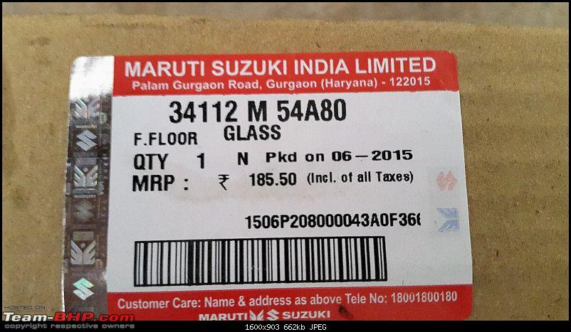 The love of my life - A 2000 Maruti 800 DX 5-Speed. EDIT: Gets export model features on Pg 27-20160629_155223.jpg