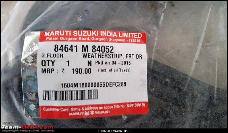 The love of my life - A 2000 Maruti 800 DX 5-Speed. EDIT: Gets export model features on Pg 27-20160629_155234.jpg