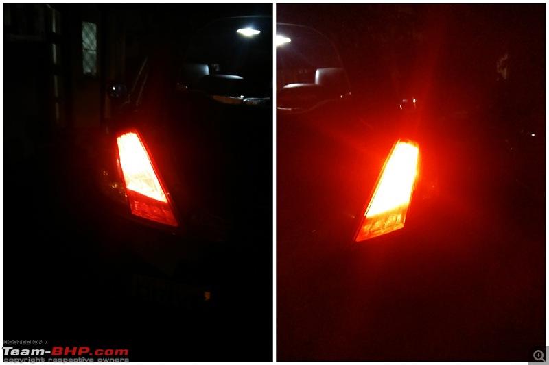 The story of a Blue Streak a.k.a Maruti Swift ZDi (Torque Blue). EDIT: 1,00,000 km up!-6.-oem-vs-led-parking-light.jpg