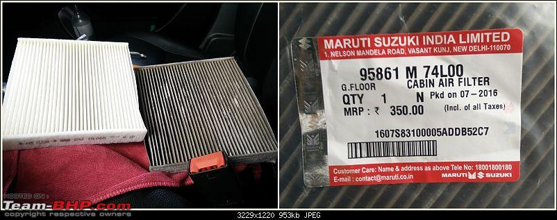The story of a Blue Streak a.k.a Maruti Swift ZDi (Torque Blue). 1,20,000 km up & now sold-cabin-filter.jpg