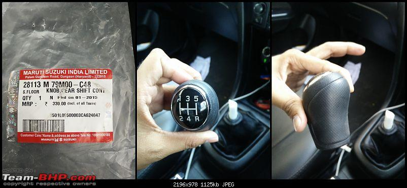 The story of a Blue Streak a.k.a Maruti Swift ZDi (Torque Blue). 1,20,000 km up & now sold-11.-ciaz-gear-knob.jpg