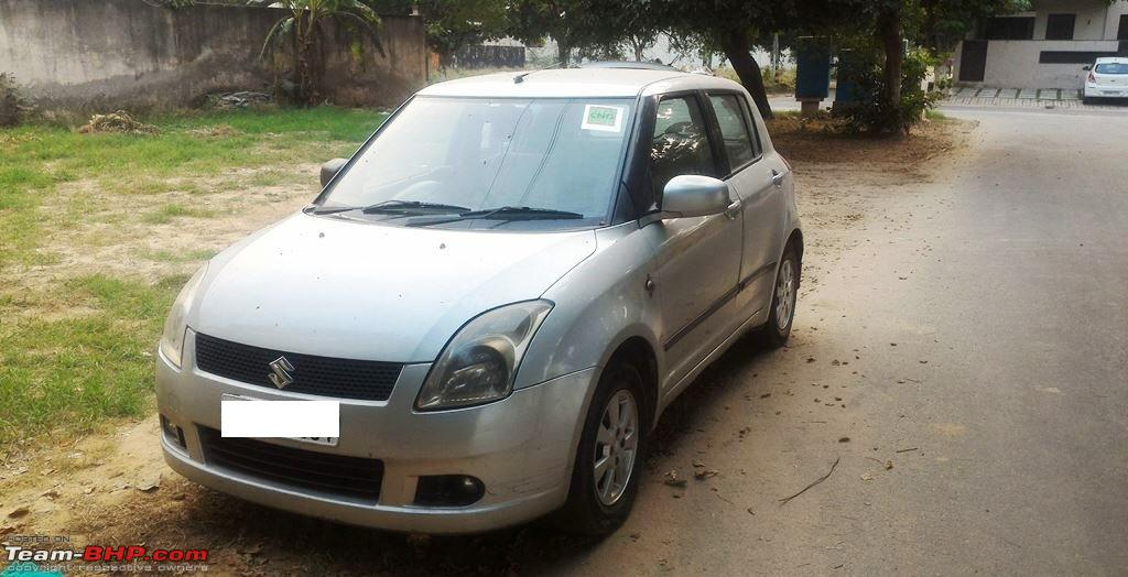 Maruti Swift Petrol + CNG Kit: 180,000 km of a committed