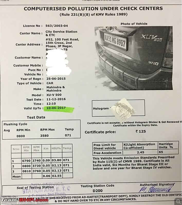 Ownership tales of Orange Cheetah, my 2015 Mahindra XUV5OO W10 FWD - 140,000 km and going strong!-imageuploadedbyteambhp1481466088.685449.jpg