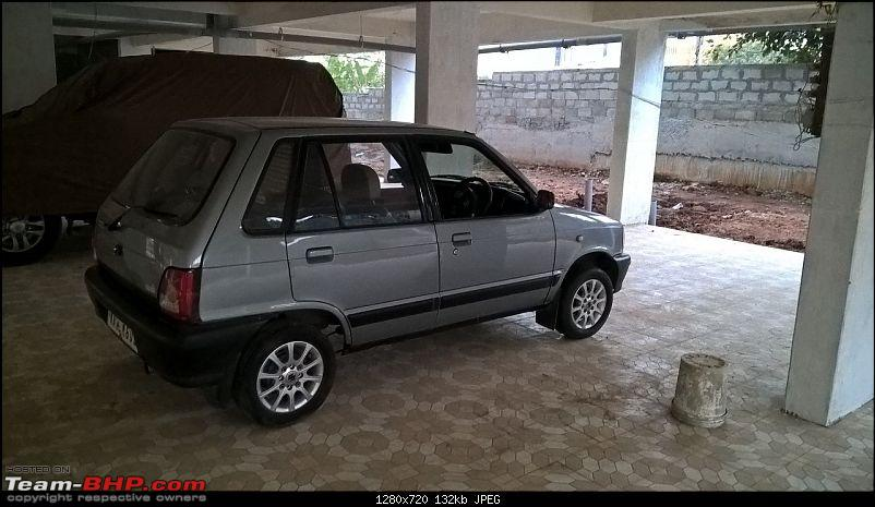 The love of my life - A 2000 Maruti 800 DX 5-Speed. EDIT: Gets export model features on Pg 27-img20161104wa0028.jpg