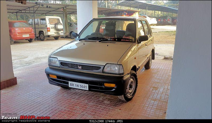 The love of my life - A 2000 Maruti 800 DX 5-Speed. EDIT: Gets export model features on Pg 27-20170204_072532_bw1.jpg