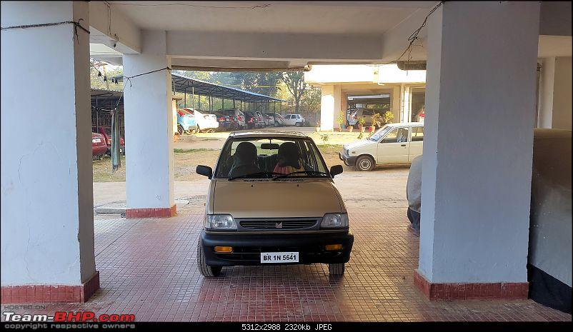 The love of my life - A 2000 Maruti 800 DX 5-Speed. EDIT: Gets export model features on Pg 27-20170204_072708.jpg