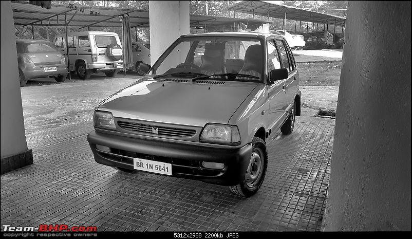 The love of my life - A 2000 Maruti 800 DX 5-Speed. EDIT: Gets export model features on Pg 27-20170204_072532_bw.jpg