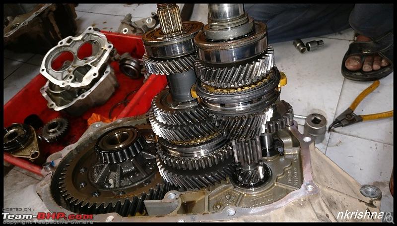 Petrol Hatch to Diesel Sedan - Fiat Linea - Now Wolfed-gearbox-opened.jpg