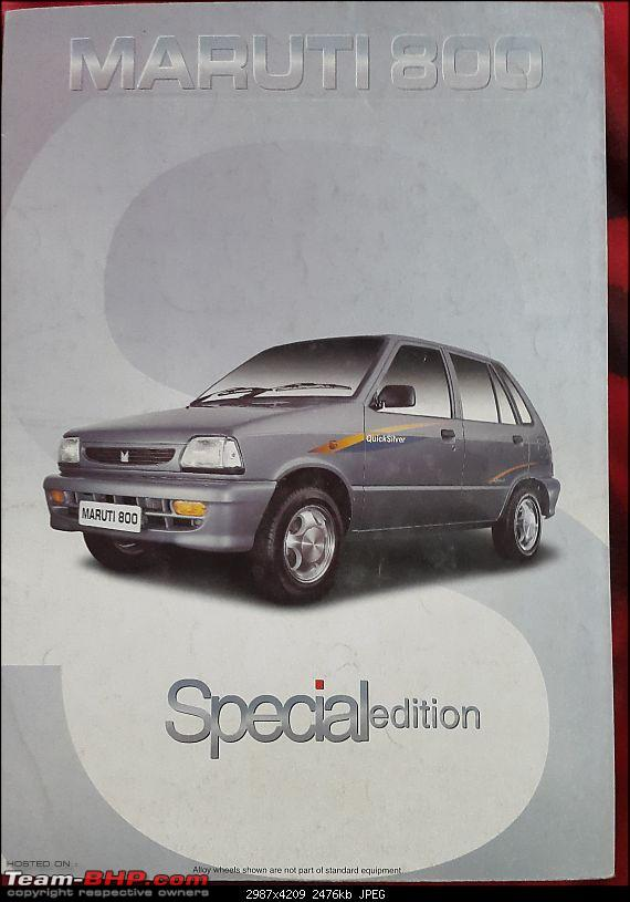 The love of my life - A 2000 Maruti 800 DX 5-Speed. EDIT: Gets export model features on Pg 27-20160928_084724.jpg