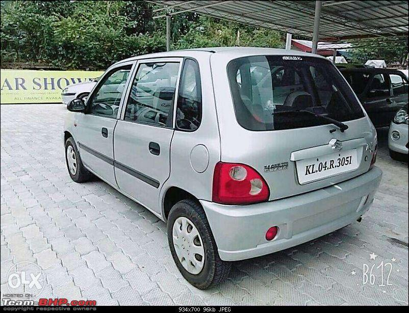The love of my life - A 2000 Maruti 800 DX 5-Speed. EDIT: Gets export model features on Pg 27-328301241_5_1000x700_marutisuzukizen2004petrolkerala.jpg