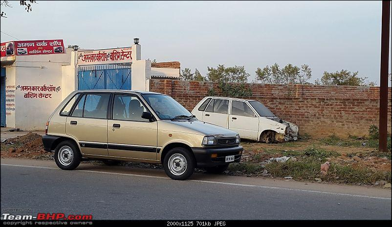 The love of my life - A 2000 Maruti 800 DX 5-Speed. EDIT: Gets export model features on Pg 27-20171112_163422.jpg
