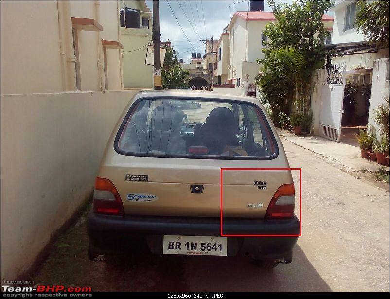 The love of my life - A 2000 Maruti 800 DX 5-Speed. EDIT: Gets export model features on Pg 27-img20170918wa0096.jpg