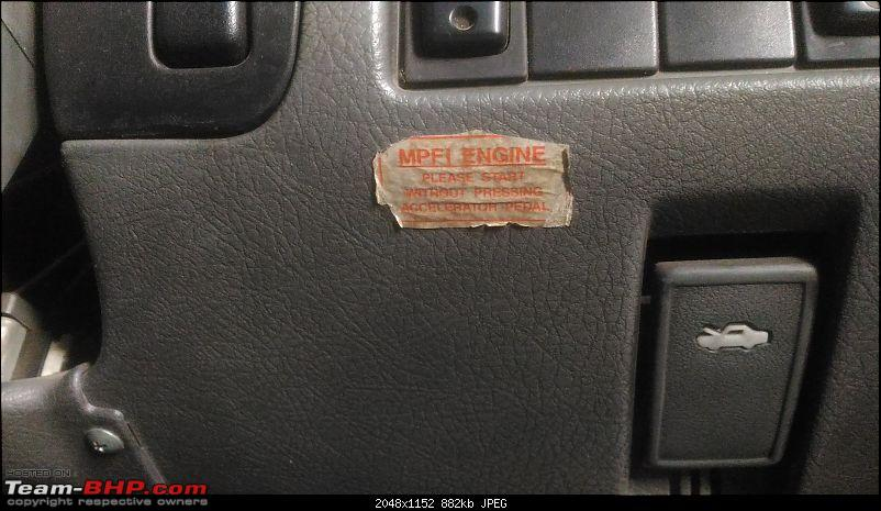 The love of my life - A 2000 Maruti 800 DX 5-Speed. EDIT: Gets export model features on Pg 27-mpfi-sticker.jpg