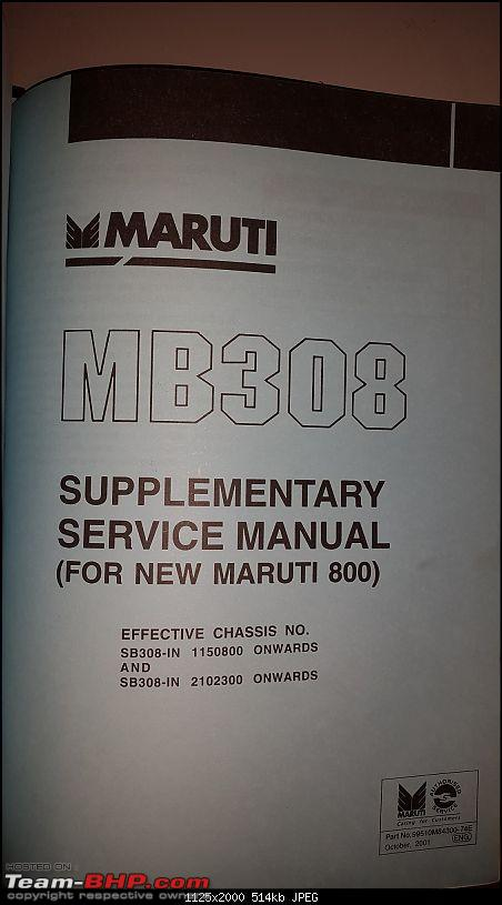 The love of my life - A 2000 Maruti 800 DX 5-Speed. EDIT: Gets export model features on Pg 27-20180107_222253.jpg